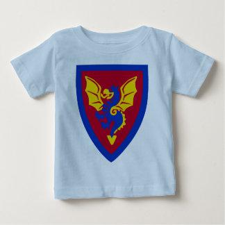 Logo vintage de bouclier de chevalier de brique de t-shirt pour bébé