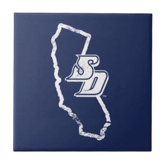 Logo vintage d'état d'USD | la Californie Carreau