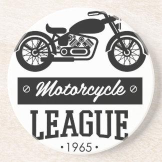 Logos de collections de moto dessous de verre en grès