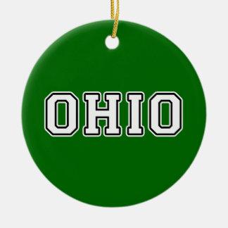 L'Ohio Ornement Rond En Céramique