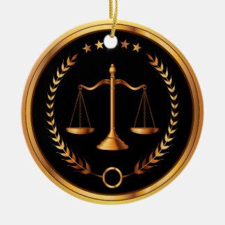 Loi, avocat, échelles de la justice - SRF Ornement Rond En Céramique
