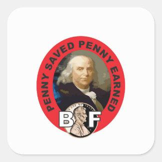 Loi Ben de penny Sticker Carré
