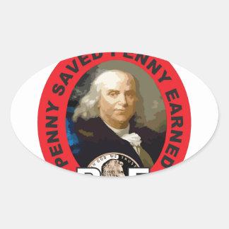 Loi Ben de penny Sticker Ovale