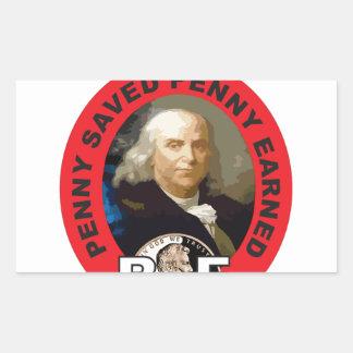 Loi Ben de penny Sticker Rectangulaire
