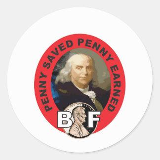 Loi Ben de penny Sticker Rond