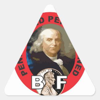 Loi Ben de penny Sticker Triangulaire