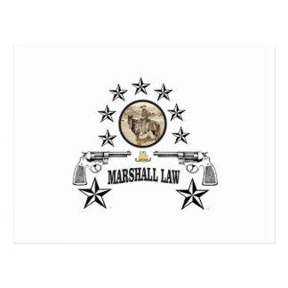 loi d'armes à feu et de maréchal de cheval carte postale