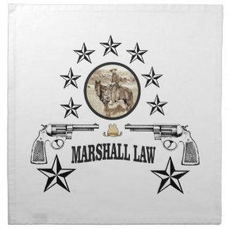 loi d'armes à feu et de maréchal de cheval serviettes de table