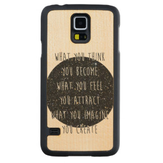 """""""Loi de la caisse en bois de la galaxie S5 Coque Slim Galaxy S5 En Érable"""