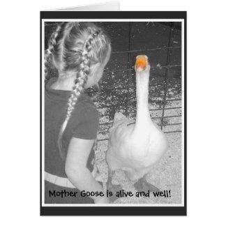 L'oie de mère est vivante et bonne ! cartes de vœux