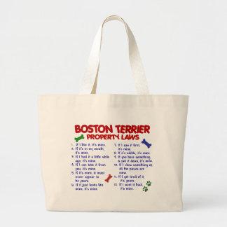 Lois 2 de propriété de Boston Terrier Grand Sac