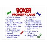 Lois 2 de propriété de boxeur cartes postales