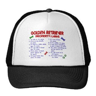 Lois 2 de propriété de golden retriever casquettes de camionneur