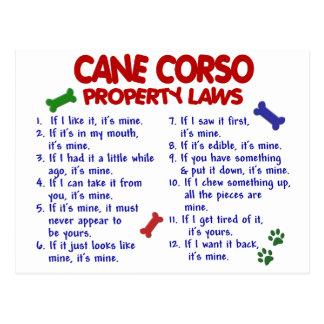 Lois 2 de propriété de la CANNE CORSO Cartes Postales