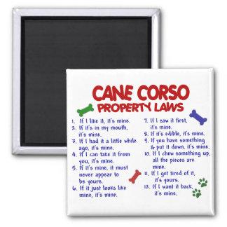Lois 2 de propriété de la CANNE CORSO Magnet Carré