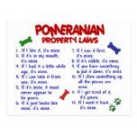 Lois 2 de propriété de POMERANIAN Cartes Postales