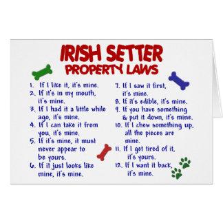 Lois 2 de propriété de POSEUR IRLANDAIS Cartes