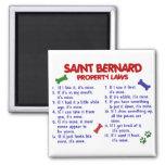Lois 2 de propriété de ST BERNARD Magnets Pour Réfrigérateur