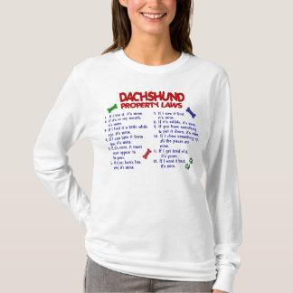Lois 2 de propriété de teckel t-shirt