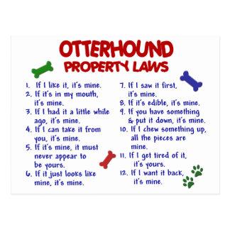 Lois 2 de propriété d'OTTERHOUND Carte Postale