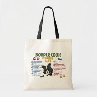 Lois 4 de propriété de border collie sacs de toile