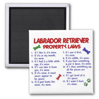 Lois de propriété de LABRADOR RETRIEVER Magnets Pour Réfrigérateur