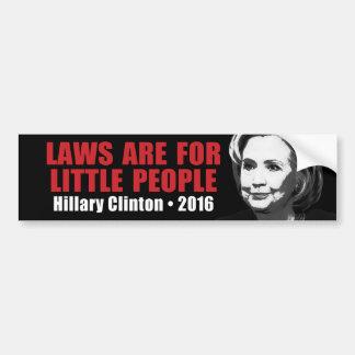 Lois pour les lutins - anti Hillary Clinton 2016 Autocollant De Voiture