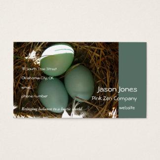 L'oiseau bleu Eggs les périodes trois Cartes De Visite