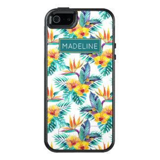 L'oiseau du paradis et le motif | d'orchidée coque OtterBox iPhone 5, 5s et SE