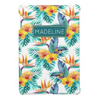 L'oiseau du paradis et le motif | d'orchidée coques iPad mini