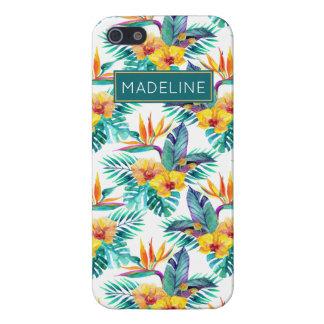 L'oiseau du paradis et le motif | d'orchidée étuis iPhone 5