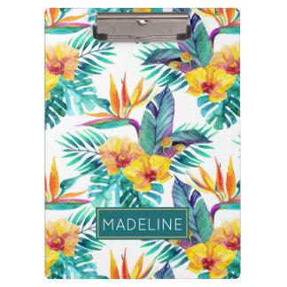 L'oiseau du paradis et le motif | d'orchidée porte-bloc