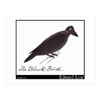 L'oiseau noir d'Edward Lear Carte Postale