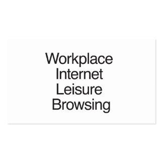 Loisirs d'Internet de lieu de travail passant en Cartes De Visite Personnelles
