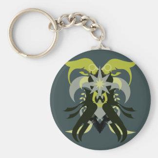 Loki de l'abstraction sept porte-clé rond