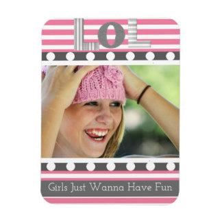 """LOL"" Girly avec la photo Magnet Flexible"