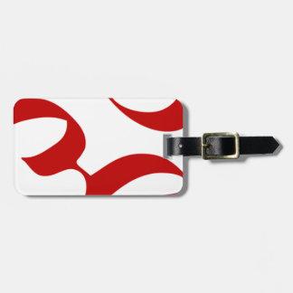 L'OM ou le symbole d'Aum à l'arrière-plan rouge et Étiquette À Bagage