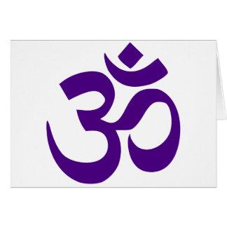 L'OM ou le symbole d'Aum (couleur d'indigo) Carte De Vœux