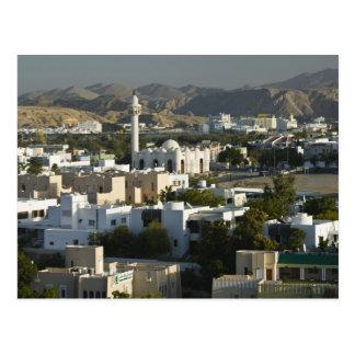 L'Oman, Muscat, Qurm. Bâtiments de la région de Carte Postale