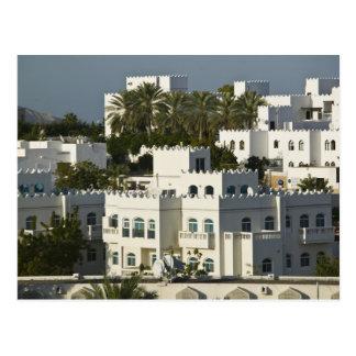 L'Oman, Muscat, Qurm. Bâtiments de région de Qurm/ Carte Postale