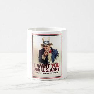 L'Oncle Sam I vous veulent pour l'armée américaine Tasse À Café