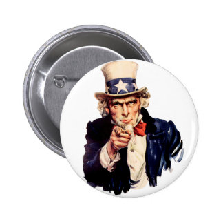 L'Oncle Sam vous veut ! Badge Rond 5 Cm