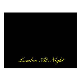 Londres à la carte postale de nuit