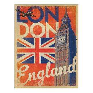 Londres, Angleterre - drapeau Carte Postale