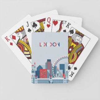 Londres, Angleterre horizon rouge, blanc et bleu Jeu De Cartes