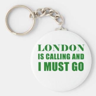 Londres appelle et je dois aller porte-clé rond