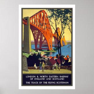 Londres au voyage vintage de l'Ecosse Poster