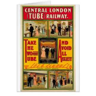 Londres centrale (j'Ai eu) Railway, by unknown Carte De Vœux