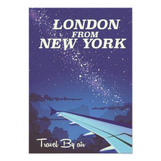 Londres d'affiche vintage de vol de New York Photographe