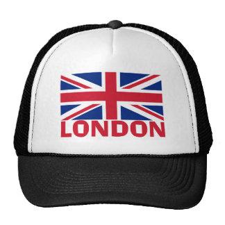 Londres en rouge casquette trucker